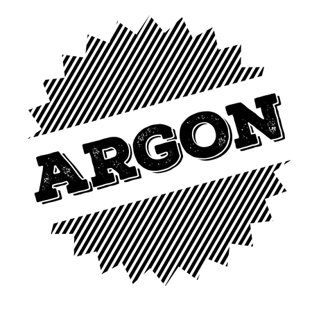 argon black stamp on white background
