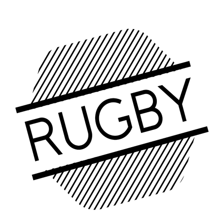 rugby black stamp in german language Illustration