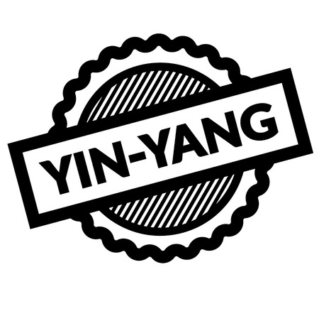 ying yang black stamp in german language