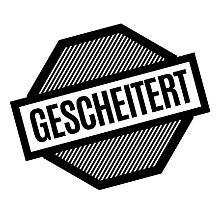 failed black stamp in german language Ilustrace