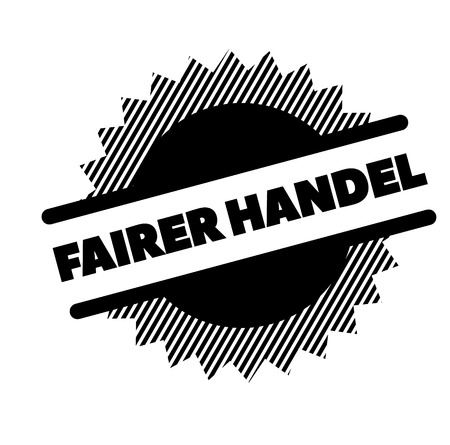 fair trade black stamp in german language Illustration