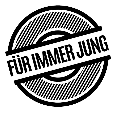 forever young black stamp in german language