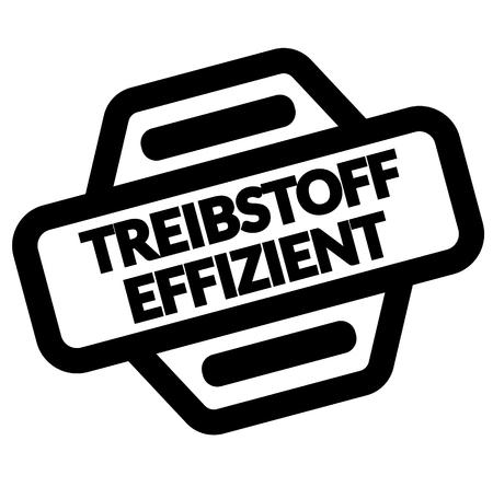 fuel efficient black stamp in german language