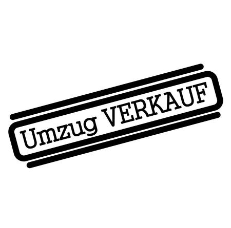 moving sale black stamp in german language