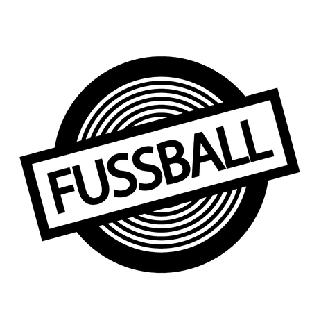 football black stamp in german language Stock Illustratie