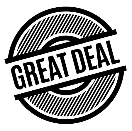 Great Deal black stamp on white background , sign, label