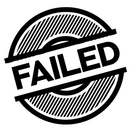 failed black stamp on white background , sign, label Ilustrace