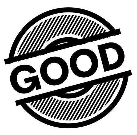 good black stamp on white background , sign, label