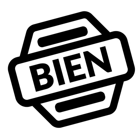 good black stamp in french language , sign, label Illustration