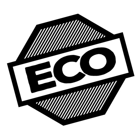 eco black stamp in french language , sign, label