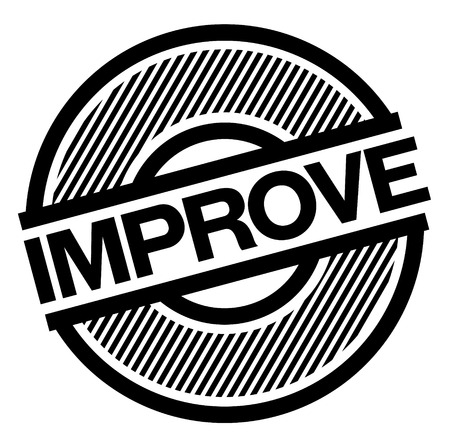 improve black stamp on white background , sign, label