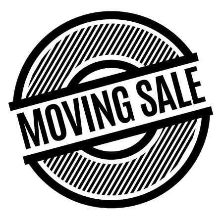 moving sale black stamp Illustration