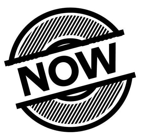 now black stamp on white background , sign, label