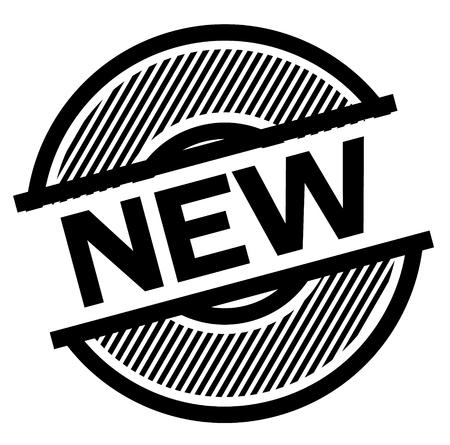new black stamp on white background , sign, label