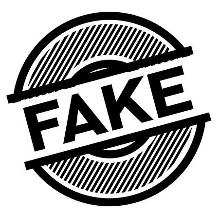 fake black stamp on white background , sign, label 向量圖像