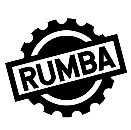 rumba black stamp in french language , sign, label