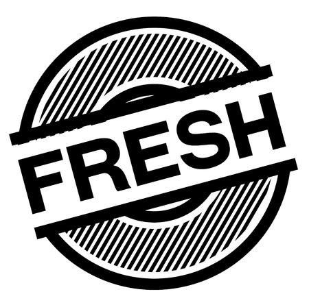fresh black stamp on white background , sign, label