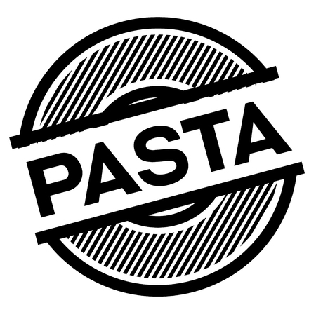 pasta black stamp on white background , sign, label