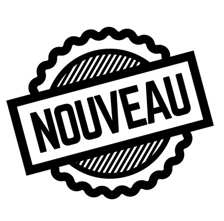 new black stamp in french language , sign, label Illustration