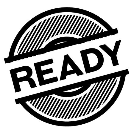 ready black stamp on white background , sign, label Illustration