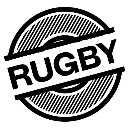 rugby black stamp on white background , sign, label Illustration