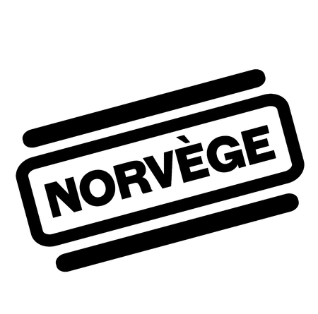 norway black stamp in french language , sign, label Illustration