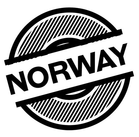 norway black stamp on white background , sign, label Illustration