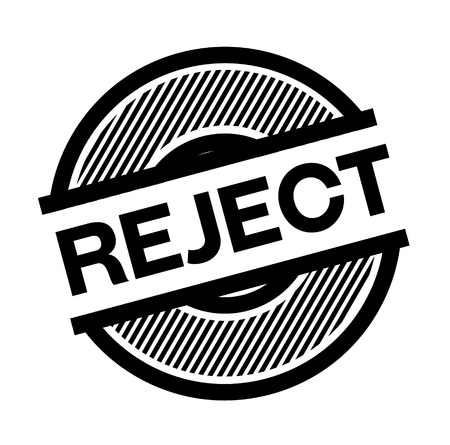 reject black stamp on white background , sign, label