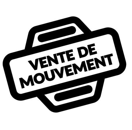 moving sale black stamp in french language , sign, label