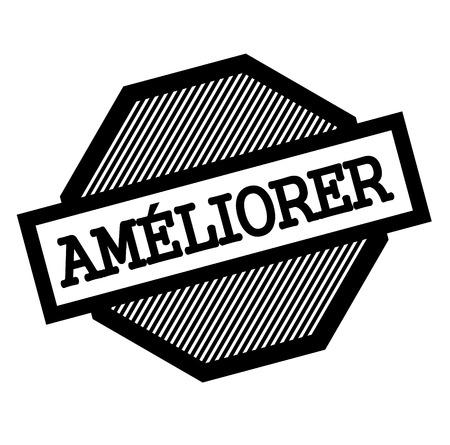 improve black stamp in french language , sign, label Ilustração