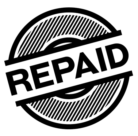 repaid black stamp on white background , sign, label