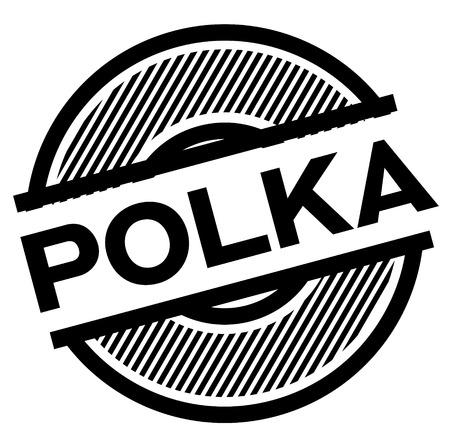 polka black stamp on white background , sign, label Ilustração