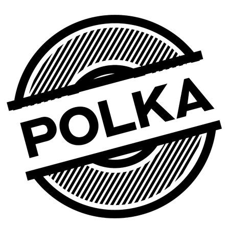 polka black stamp Illustration