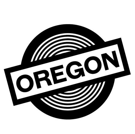 oregon black stamp in french language , sign, label
