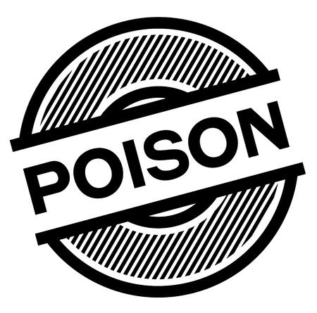 poison black stamp on white background , sign, label Illustration