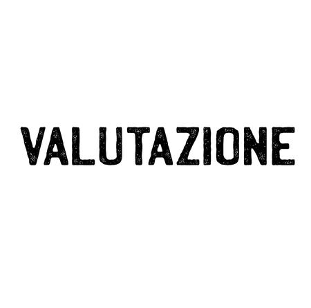 rating black stamp in italian language. Sign, label, sticker