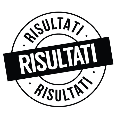 results black stamp in italian language. Sign, label, sticker