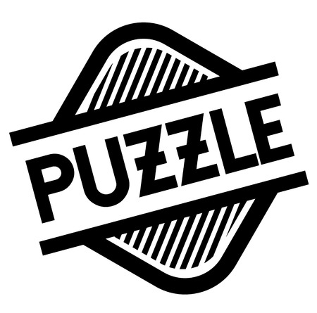 puzzle black stamp in italian language. Sign, label, sticker