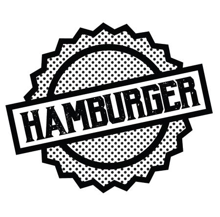 hamburger stamp on white