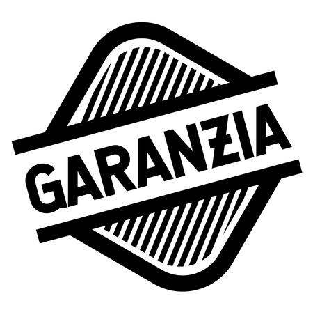 warranty black stamp in italian language. Sign, label, sticker