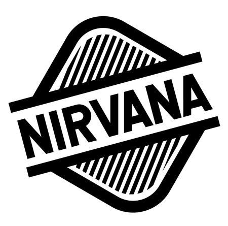 nirvana black stamp in italian language. Sign, label, sticker