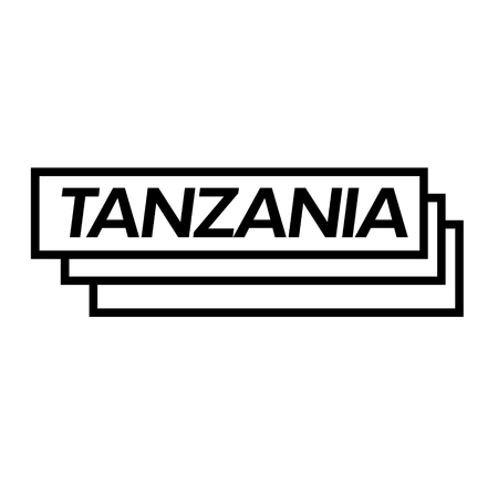 tanzania black stamp in italian language. Sign, label, sticker Illusztráció