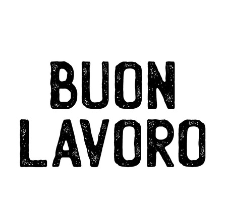good job black stamp in italian language. Sign, label, sticker Çizim