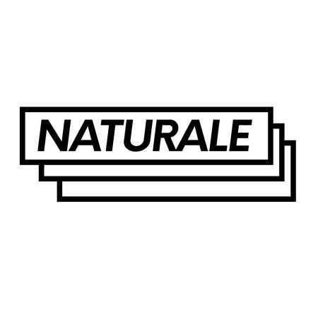 natural black stamp in italian language. Sign, label, sticker Illustration