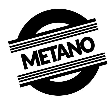 methane black stamp in italian language. Sign, label, sticker Illustration