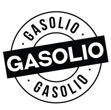 gasoline black stamp in italian language. Sign, label, sticker Illustration