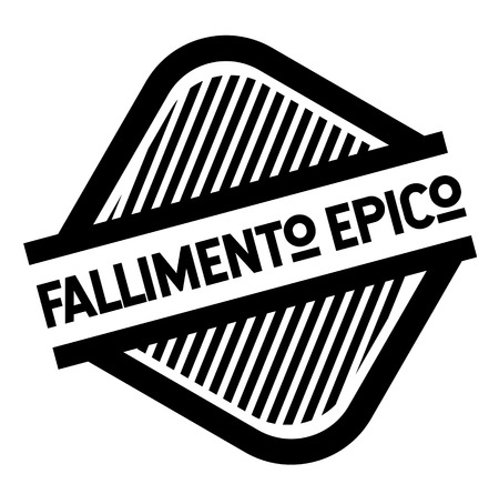 epic fail black stamp in italian language. Sign, label, sticker