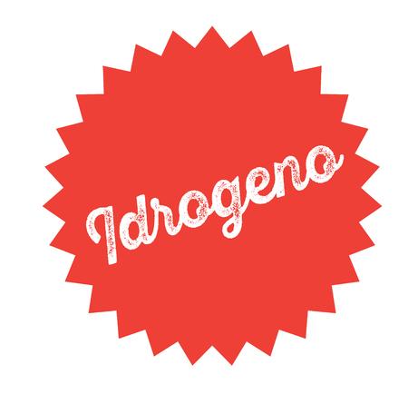 hydrogen black stamp in italian language. Sign, label, sticker