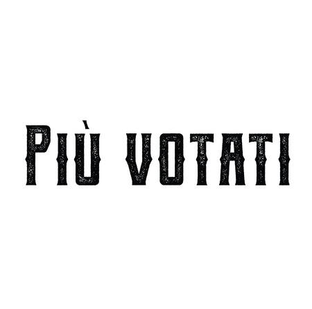 top rated black stamp in italian language. Sign, label, sticker Çizim
