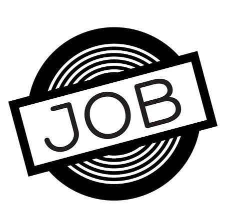 Job schwarzer Stempel auf weißem Hintergrund, Schild, Etikett